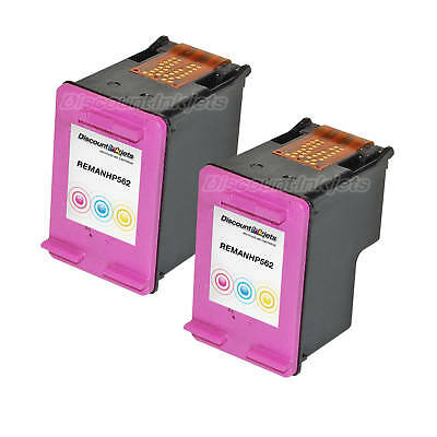 2 PACK CH562WN Color Ink Cartridge for HP 61 ENVY 4500 4504 e-All-in-One  Printer