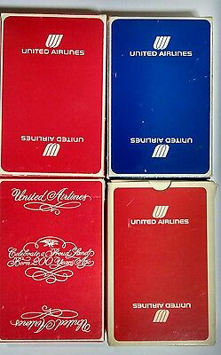VINTAGE UNITED AIRLINES DECK PLAYING CARDS Sealed New Mint