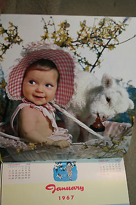 vtg old KIDDIE Calendar AUGUSTA DAIRIES Staunton Waynesboro Virginia children