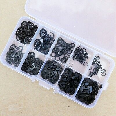 300Pcs E-Clip & Retaining Ring Assortment Kit 3mm 4mm 5mm 6mm 8mm