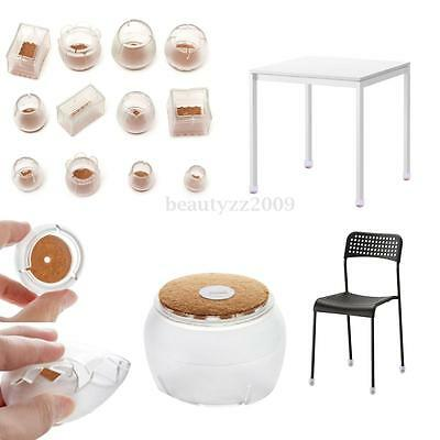 4pcs Silicon Gel Furniture Table Chair End Leg Floor Feet Cap Cover Protector