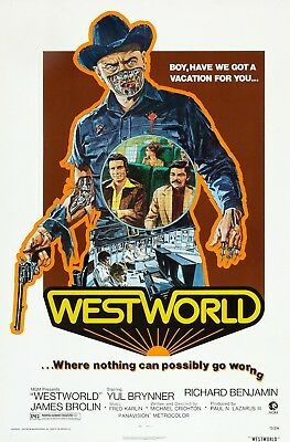 """""""Westworld"""" .Yul Brynner James Brolin Classic Movie Poster Various Sizes"""