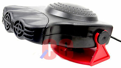 12V Car Dash Mounted Fan Heater Windscreen Demister Van Caravan Delux Ceramic