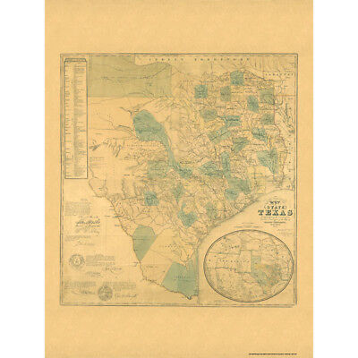 Universal Map Texas 1853 Historical Map