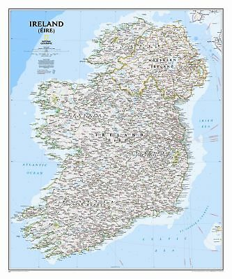 National Geographic Maps Ireland Classic Wall Map