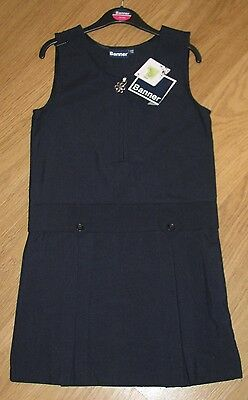 Girls Pinafore Dress - Double Box Pleat Pinafore with Zip and Charm by Banner