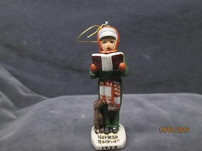 "Vintage 1978 Norman Rockwell Dave Grossman ""carroler"" Christmas Ornament"