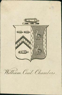 William Cecil Chambers.    Bookplate QR577
