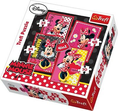 Minnie Mouse Puzzle 4 in 1