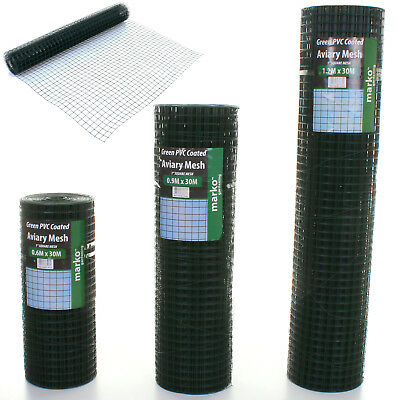 PVC Coated Galvanised Welded Wire Mesh Aviary Fence Chicken Rabbit Garden Hutch