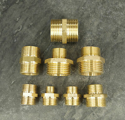 BRASS BSP REDUCING CONNECTORS VARIOUS SIZES  high quality Male to Male