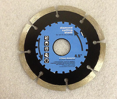 "4.5"" Diamond Cutting Blade Disc For Wet And Dry Angle Grinder Grinding"