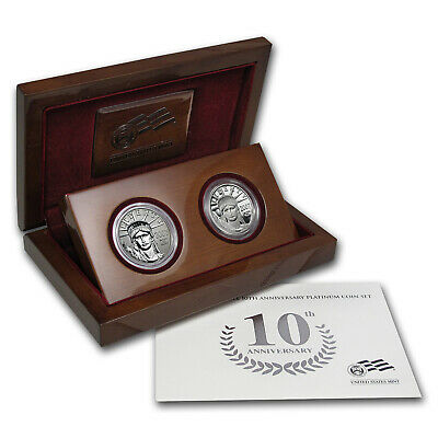 2007-W 2-Coin Proof Platinum Eagle Set (10th Anniv, Box & COA) - SKU #32963