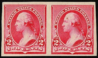 "Us # 220P5 *mint Og H* (( Pair -Xf- Centered )) ""scarce"" Plate P On Stamp Paper"