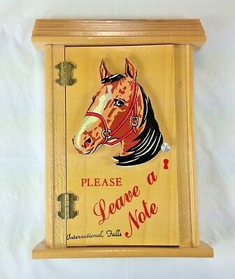 Vintage Collectible International Falls Minnesota Notepad Holder Horse