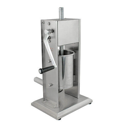 New Commercial Restaurant Stainless Steel Vertical Meat Sausage Stuffer 3L 7lbs