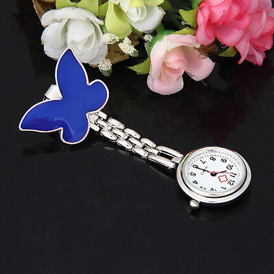New Butterfly Nurse Watch Clip-on Fob Brooch Pendant Hanging Watch Pocket Watch