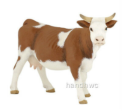 FREE SHIPPING | Papo 51133 Simmental Cow Farm Animal Figurine - New in Package