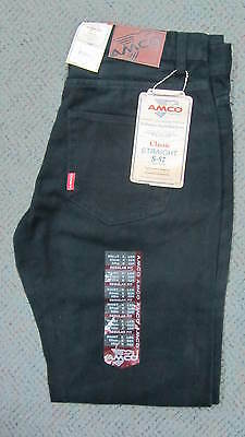 1 x SIZE 82CM/32INCH AMCO BLACK JEANS BRAND NEW WITH TAGS