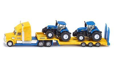 Siku Truck with 2 New Holland Tractors - 1:87 Scale - Toy Vehicle
