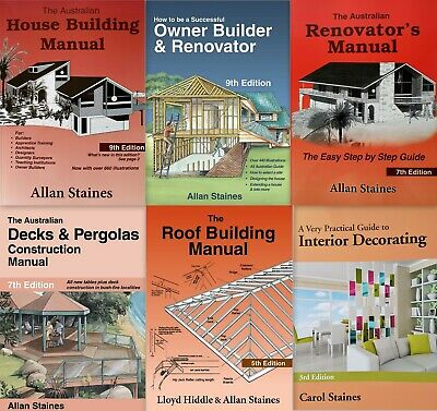 Allan Staines House Building, Renovator, Decks, Roof, Interior Decorating 6 Pack