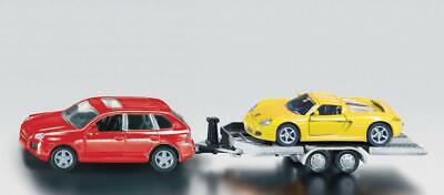 Siku Car and Trailer - 1:55 Scale - Toy Vehicle