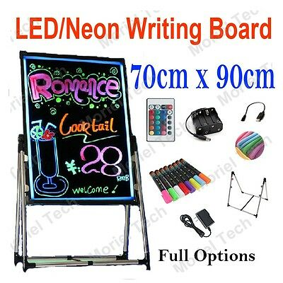 90x70cm LED/Neon/Fluorescent Writing Menu Board, Whiteboard Flash Signage Sign