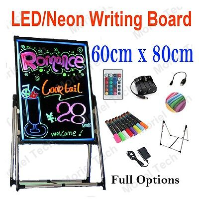 80x60cm LED/Neon/Fluorescent Writing Menu Board, Whiteboard Flash Signage Sign