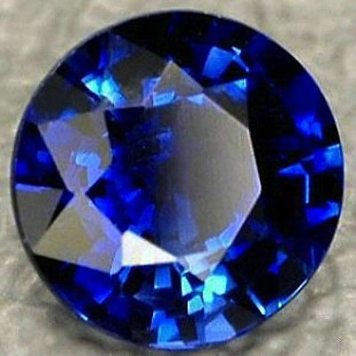 AAA Rated Lab Created Bright Blue Sapphire Round Faceted Gemstone 3mm to 18mm