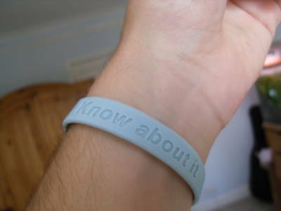 Prostate Cancer AWARENESS Charity Wristband blue band