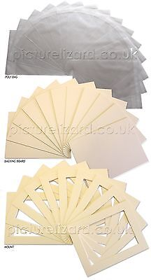 Large Picture Photo Mount Kits. Inc Bevel edge mounts, Backing Boards and Bags