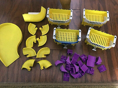 Lot of 35 Rokenbok Chutes, Hoppers and Purple Supports -- Ships the Same Day!