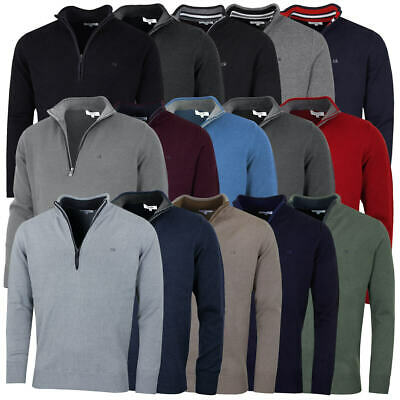 Calvin Klein Golf Mens Cotton Sweater CK Half Zip Top 37% OFF RRP