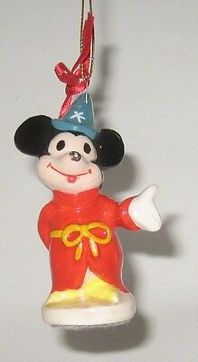 EARLY Mickey Mouse Sorcerer Ceramic Christmas Ornament WD Productions JAPAN