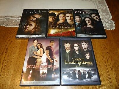 NEW - Twilight, New Moon, Eclipse, Breaking Dawn - Part 1 & Part 2 (6 DVD Set)