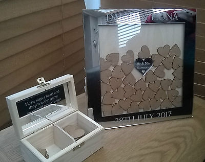 Personalised Wedding Guest Book Drop Box frame