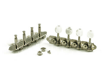 Grover Professional Mandolin Machine Heads for A Style, 4+4, Nickel Finish, 309N