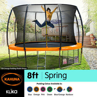 8ft Round Trampoline Safety Net Spring Pad Cover Mat Ladder Free