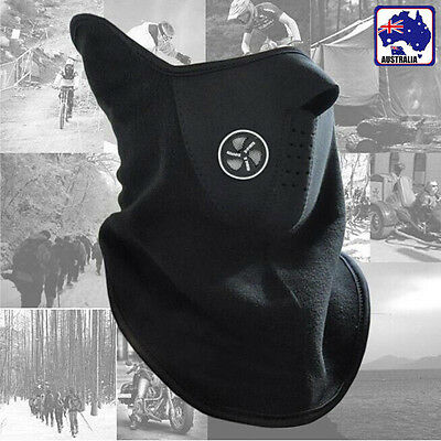 Black Motorcycle Motorbike Biker Cycle Cycling Face Neck Warmer Mask OMASK 0201