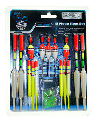 15 Piece Float Set - Assorted Sizes, + 50 Attachment Rubbers (Approx.)
