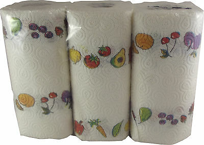 Kitchen Towel Fruits Design 3 Roll Clear Pack Nicky Elite