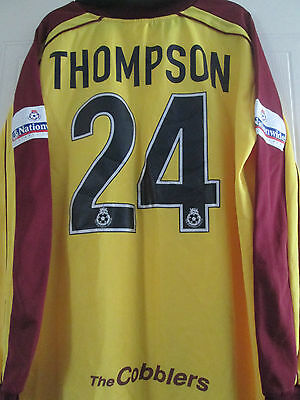 Thompson Match Worn Squad Signed 2000-2001 Northampton Town Football Shirt 39475