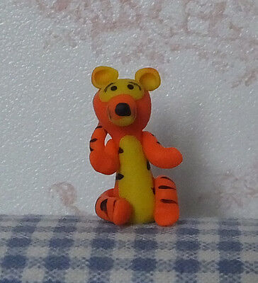Dolls house miniatures: tiny (1:12 scale) Tigger figurine