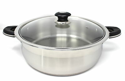 Concord Cookware Chicken Fryer Low Stock Pot with Lid