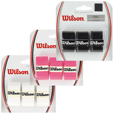 Wilson Pro Overgrip for Rackets 3 Pack Tennis Badminton 35% OFF RRP