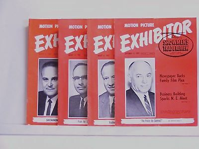 EXHIBITOR MOTION PICTURE MOVIE SHOWMEN'S TRADE REVIEW MAGAZINE 4 pc LOT 1960's