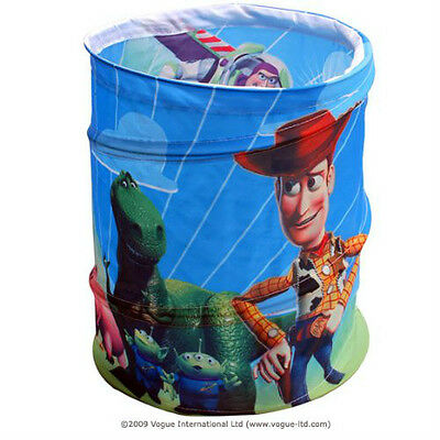Toy Story Concertina Pop Up Bin Tidy Novelty Kidz Decor Blue Storage Solution
