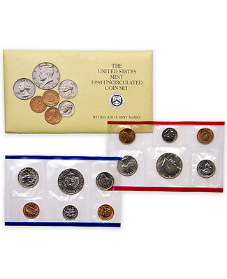 1990 United States US Mint Uncirculated Coin Set SKU1396