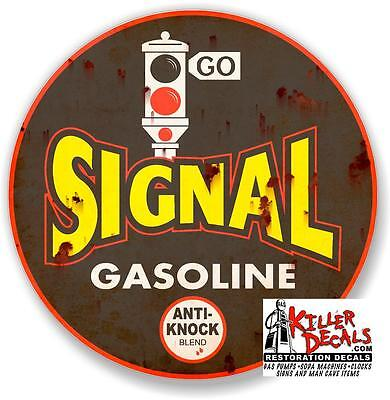 "6/""X20/"" RUSTY LOOKING DERBY FREE AIR meter decal lubster gas pump oil man cave"