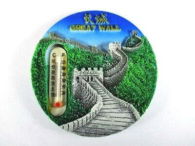 Peking Great Wall Thermometer,Fridge Poly Magnet Souvenir (156 )